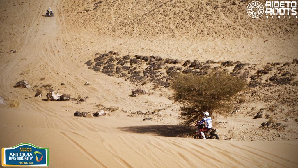 Bajada duna en montana