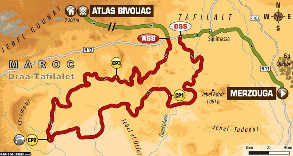 Stage 3 Afriquia Merzouga Dakar Rally Series 2016