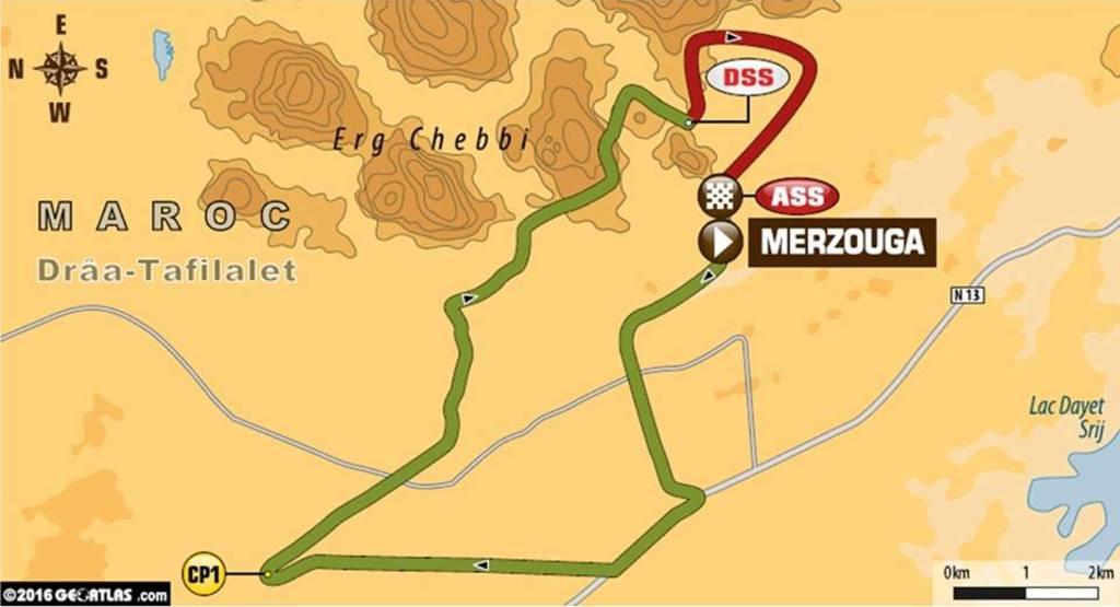 Map foreword Afriquia Merzouga Rally 2016